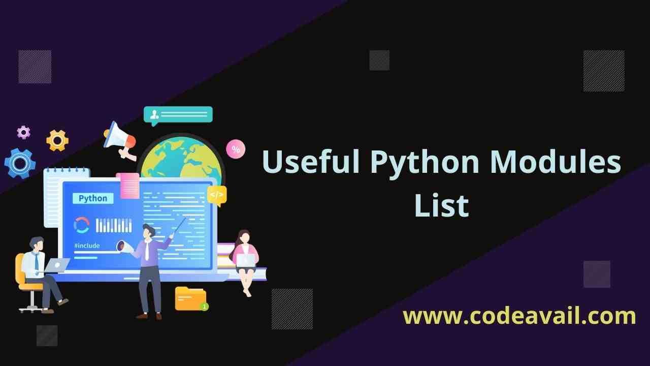 Python Modules List