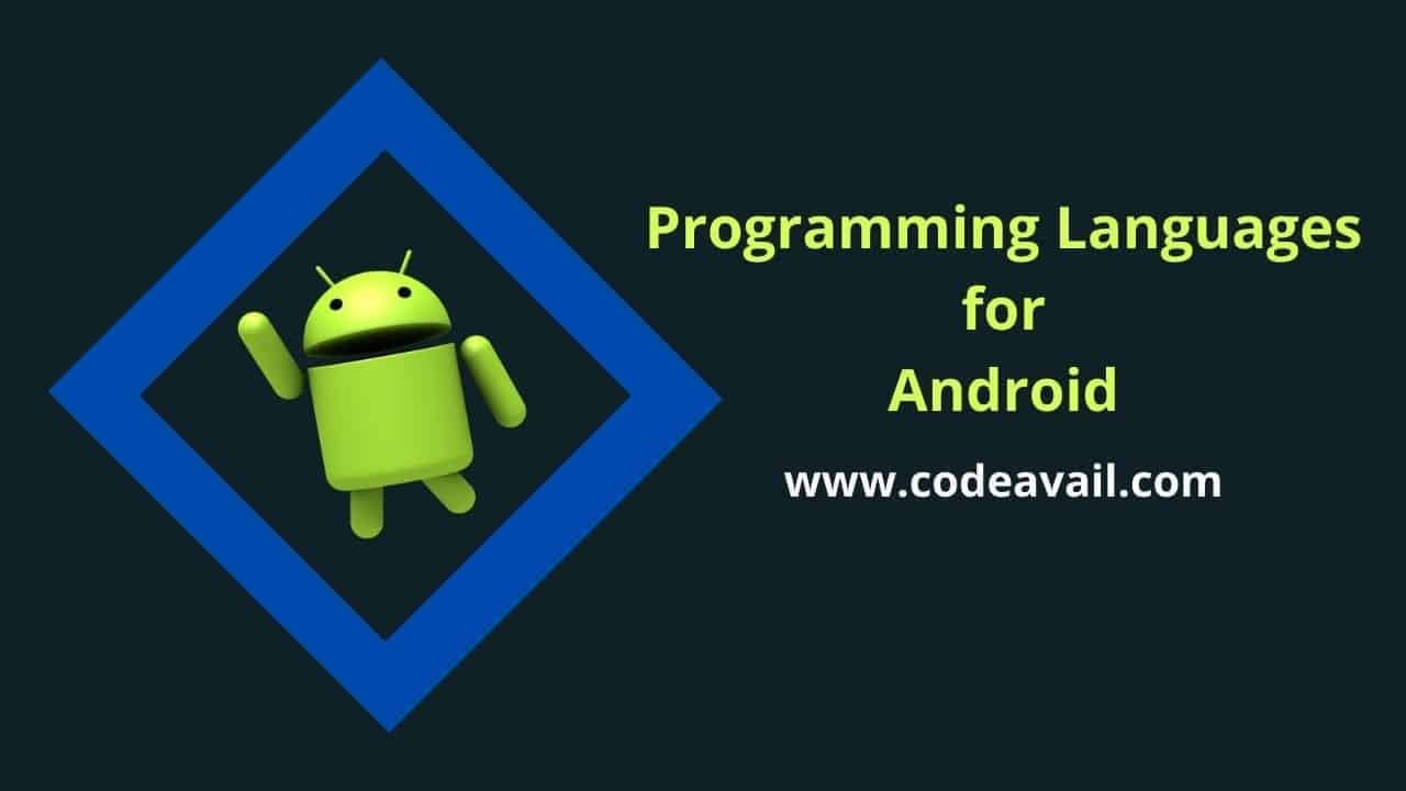 Programming language for android