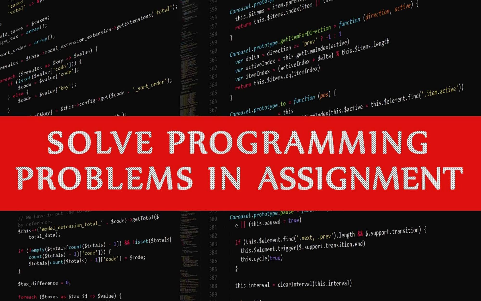 How to Solve Programming Problems in Assignment