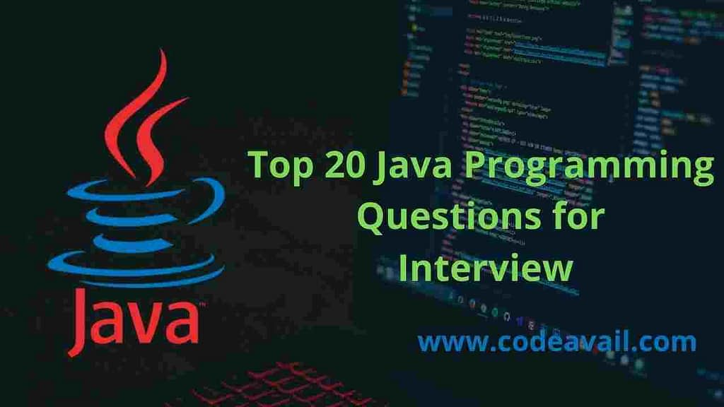 Java programming questions for interview